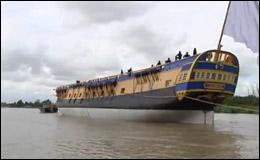 Реплика французского корабля l'Hermione