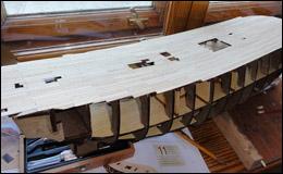 «Баунти» — укладка верхней палубы