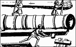 Изготовление кованой пушки XV века