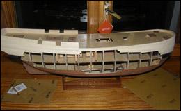 «Баунти» — чистовая обшивка верхней части корпуса