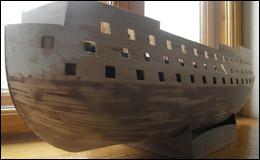 «Виктория» — окончание черновой обшивки корпуса
