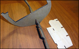 Парусник «Баунти» — нижняя палуба, силовой каркас